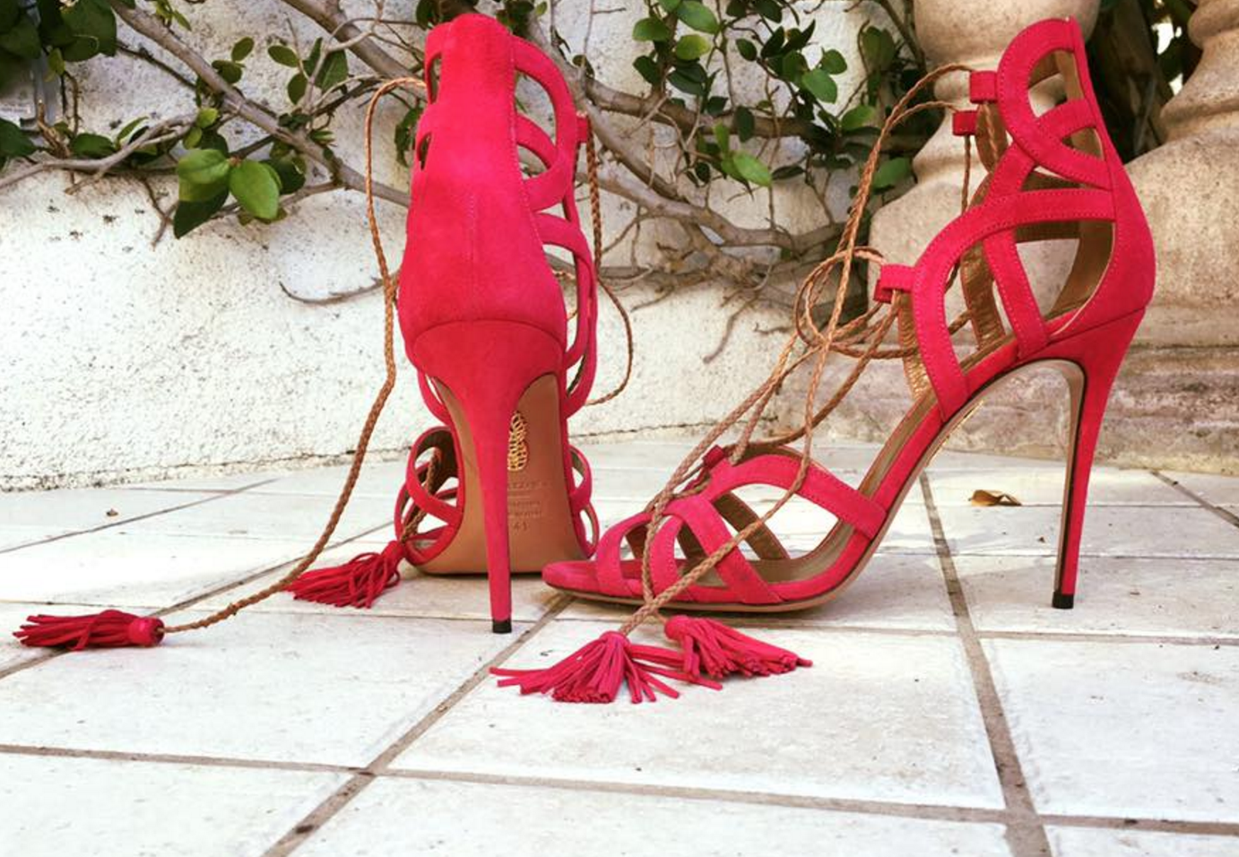 Aquazurra, red, shoes, haute couture